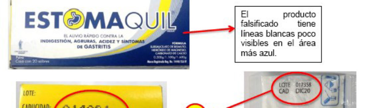 COEPRISS lanza alerta sobre la falsificación del producto Estomaquil