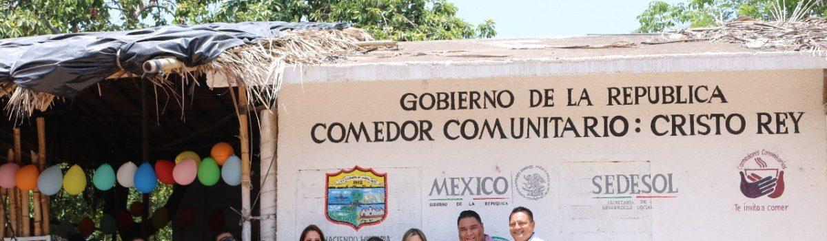 Alcaldesa inaugura Comedor Comunitario en la Sindicatura de Cristo Rey.