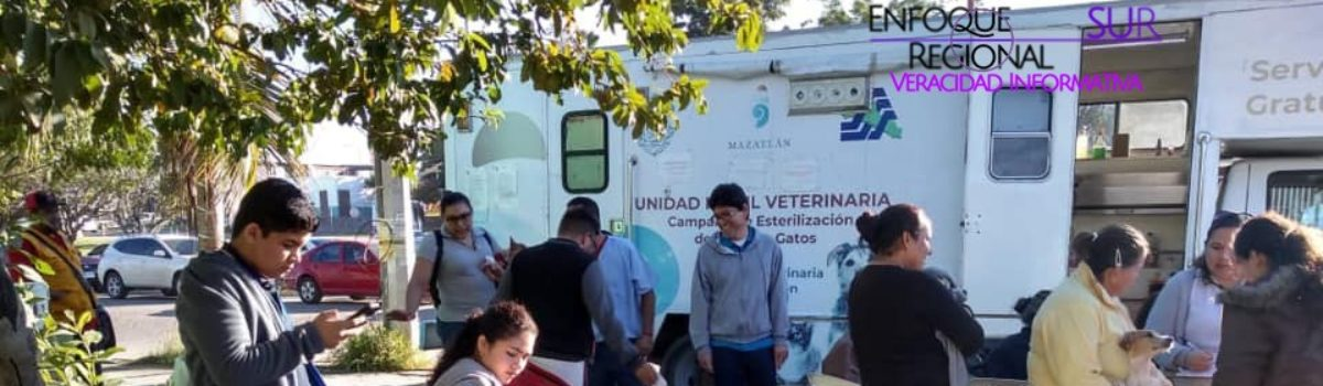 Participa el Camión Esterilizador en las jornadas de servicios de Gobierno del Estado