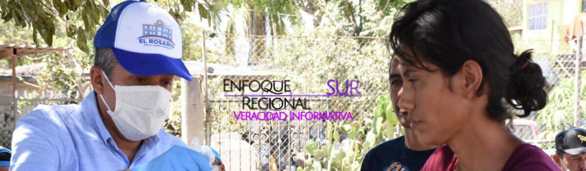 DIRECTORES DEL GOBIERNO  MUNICIPAL DE EL ROSARIO DONAN UN PORCENTAJE DE SU SUELDO.