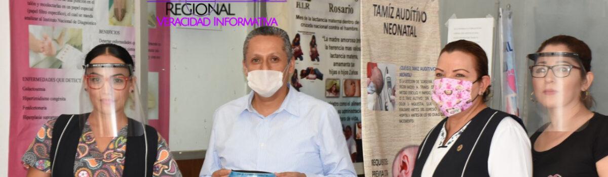 AYUNTAMIENTO DE ROSARIO REALIZA DONACIÓN DE CARETAS, CUBRE BOCAS Y GEL DESINFECTANTE AL HOSPITAL INTEGRAL.