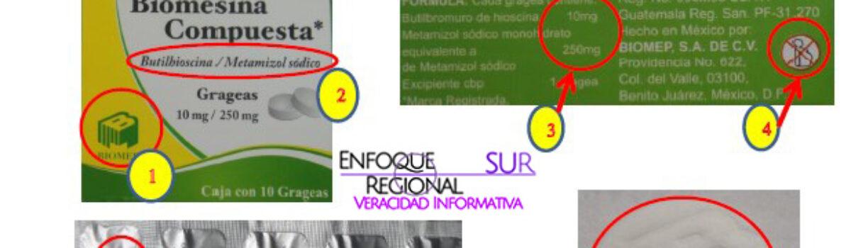 La COEPRISS alerta sobre la falsificación del producto Biomesina Compuesta