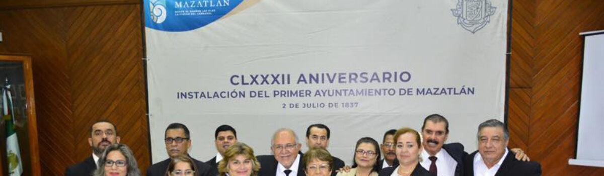 CONMEMORAN 182 ANIVERSARIO DE LA INSTALACIÓN DEL PRIMER AYUNTAMIENTO DE MAZATLÁN