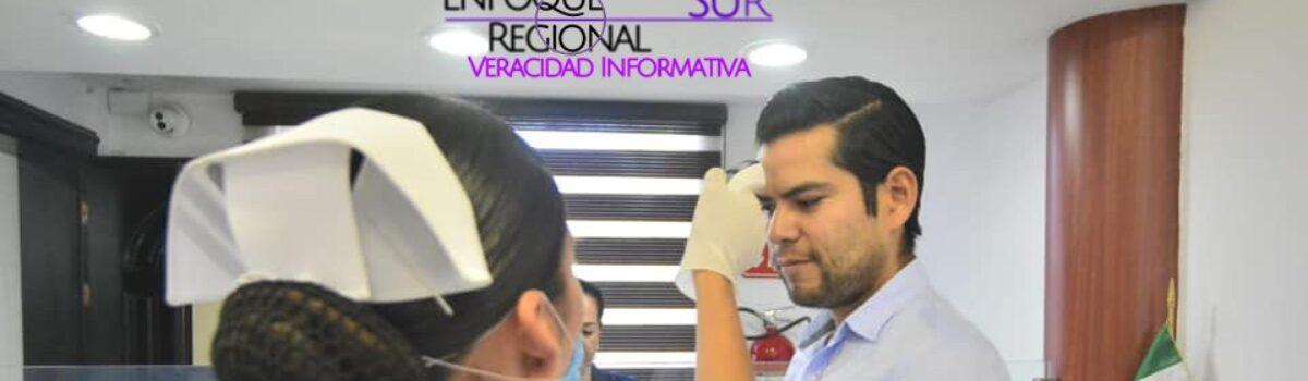 ANTE EL COVID-19, HACEN CHEQUEO MÉDICO A EMPLEADOS MUNICIPALES