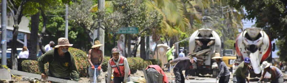 EN AVANCE LA CONSTRUCCIÓN DE LA AVENIDA GUTIERREZ NÁJERA.