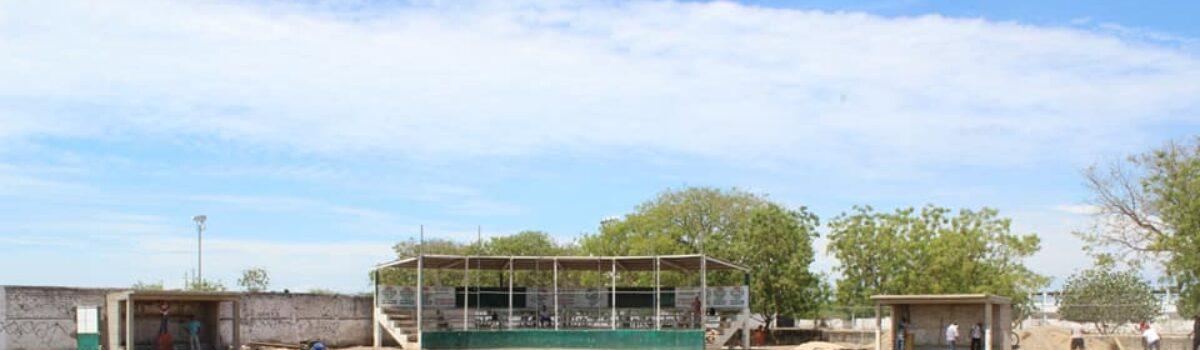 Avances en la rehabilitación del estadio de Béisbol Infantil.