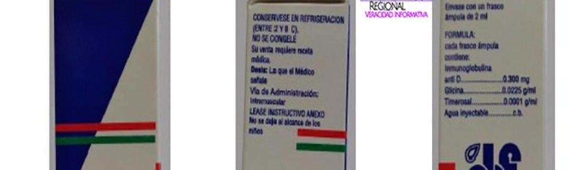 COEPRISS lanza alerta sobre la falsificación y venta ilegal del producto Probi-Rhod, solución inyectable