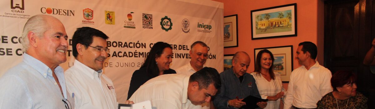 Se efectúa Firma de Convenio entre CLUSTER del Mango Sinaloense e Instituciones Educativas.