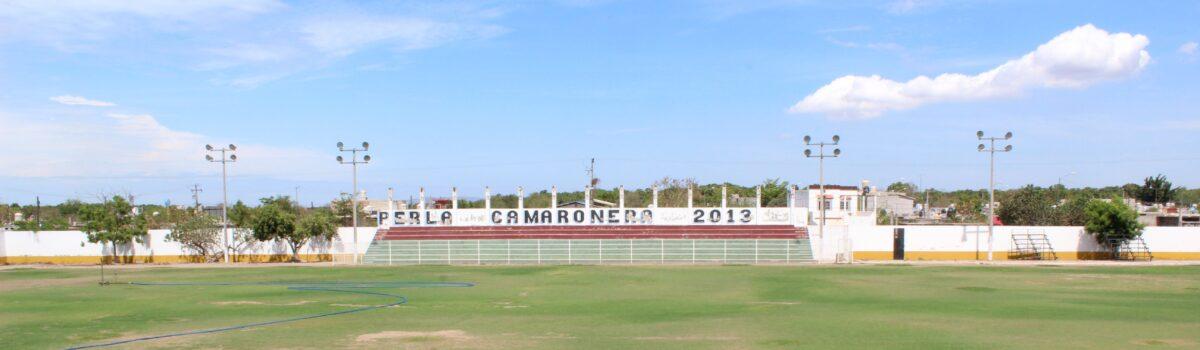 Estadio Municipal de Fútbol  Perla Camaronera, en cuarentena.