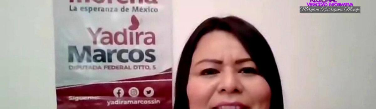 """Inicia Yadira Marcos campaña por """"la defensa de la transformación"""" Distrito 5 Sinaloa."""