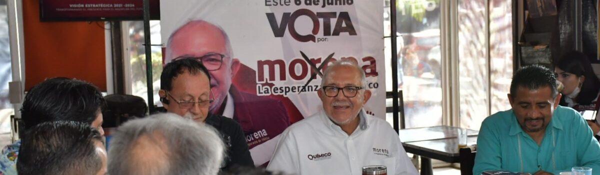 QUÍMICO BENITEZ Y COMERCIANTES DE LA ZONA DORADA ACUERDAN RESCATAR ESA ÁREA DE LA CIUDAD.
