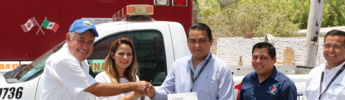 Se beneficia Bomberos Voluntarios de Escuinapa con donación de una camioneta y equipo táctico.