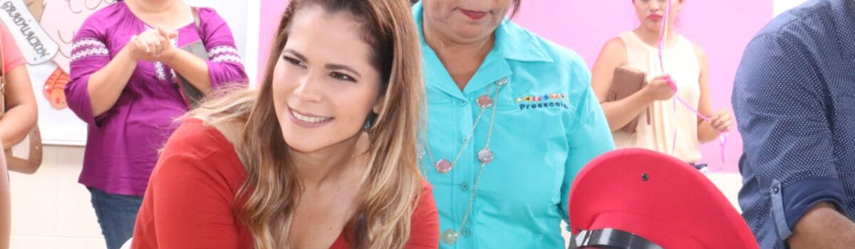 Asiste Alcaldesa a la Clausura del Jardín de Niños Antonio Aguirre.