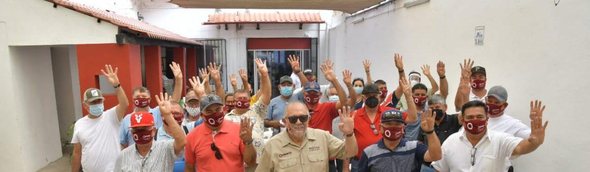 UNIÓN DE LANCHEROS DEL EMBARCADERO DE LA ISLA DE LA PIEDRA RESPALDA CANDIDATURA DEL QUÍMICO BENITEZ