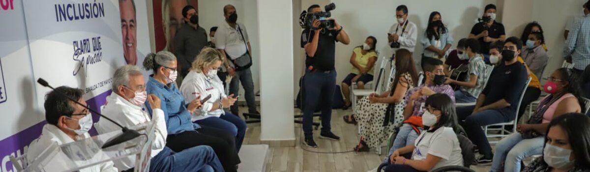 EN MI GOBIERNO SE APROVECHARÁ Y FORTALECERÁ EL TALENTO DE LAS PERSONAS CON DISCAPACIDAD: ROCHA MOYA