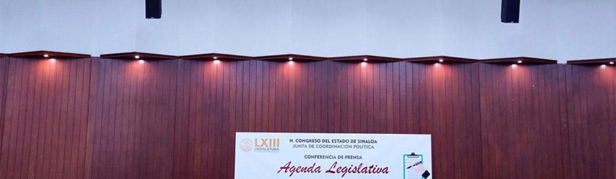 Presenta Congreso Agenda Legislativa Común para Primer Periodo Ordinario de Sesiones
