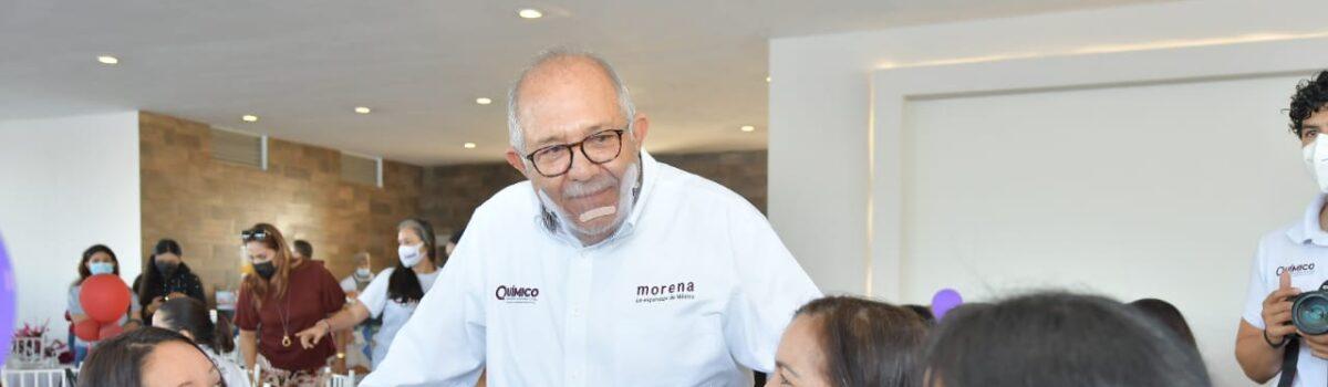 QUÍMICO BENITEZ ANUNCIA MAYOR PRESUPUESTO A INSTITUCIONES DE APOYO A LAS MUJERES