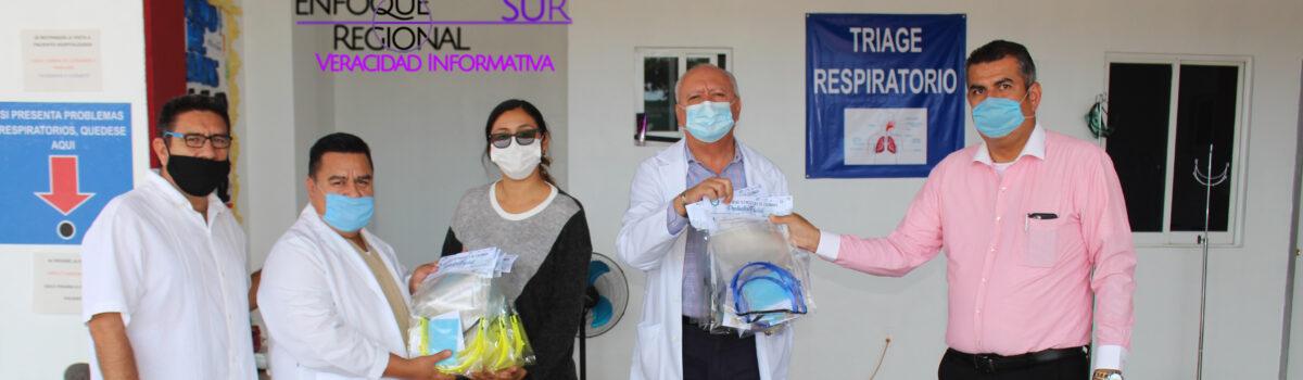 ENTREGA UTESC PROTECTORES FACIALES A INSTITUCIONES DE SALUD