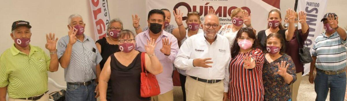 LÍDERES DE COLONIAS DE MAZATLÁN SE SUMAN AL PROYECTO TRANSFORMADOR DEL QUÍMICO BENITEZ.