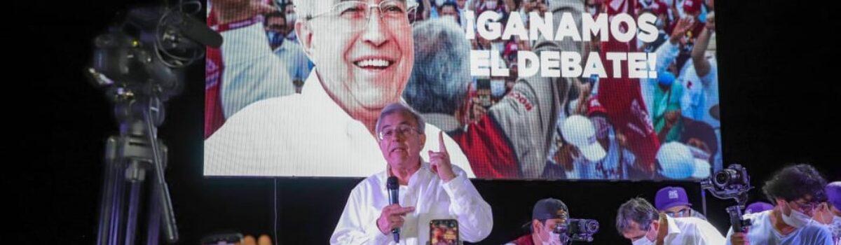 RUBÉN ROCHA GANA EL SEGUNDO DEBATE CON LA MEJOR PROPUESTA: LA LUCHA CONTRA LA CORRUPCIÓN