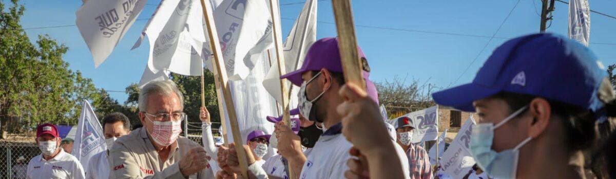VAMOS A SOLTARLE LA RIENDA AL CABALLO PARA GANAR LA CARRERA A LA GUBERNATURA: RUBÉN ROCHA