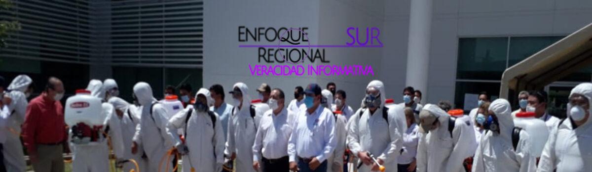 Sinaloa implementa programa de sanitización de espacios públicos contra el COVID-19