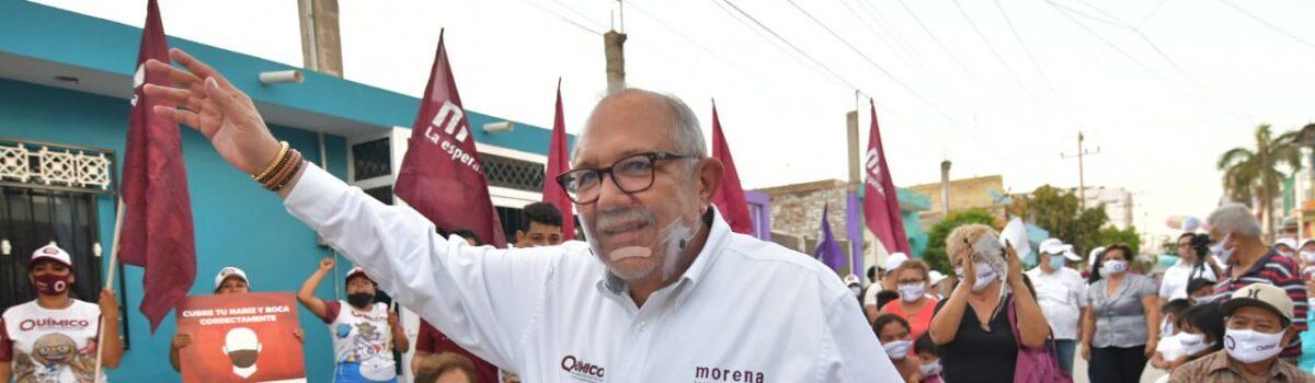 COLONOS ARROPAN AL QUÍMICO BENITEZ Y RESPALDAN SU PROYECTO DE OBRA SOCIAL
