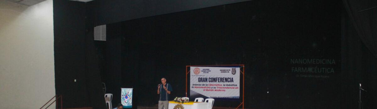 CLUB ROTARIO ESCUINAPA REALIZA CONFERENCIA SOBRE NANOMEDICINA, ROBOTICA Y CIBERNÉTICA.
