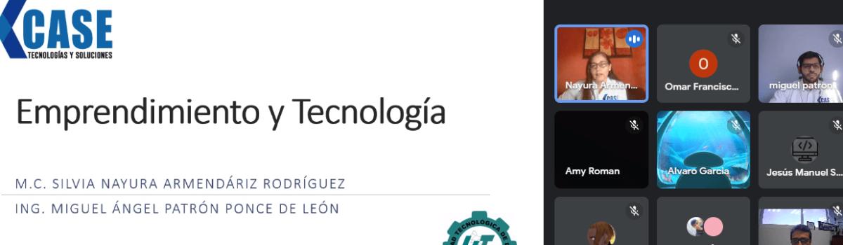 PRESENTAN CONFERENCIA DE EMPRENDIMIENTO TECNOLÓGICO A ESTUDIANTES DE INGENIERÍA EN DESARROLLO Y GESTIÓN DE SOFTWARE DE UTESC